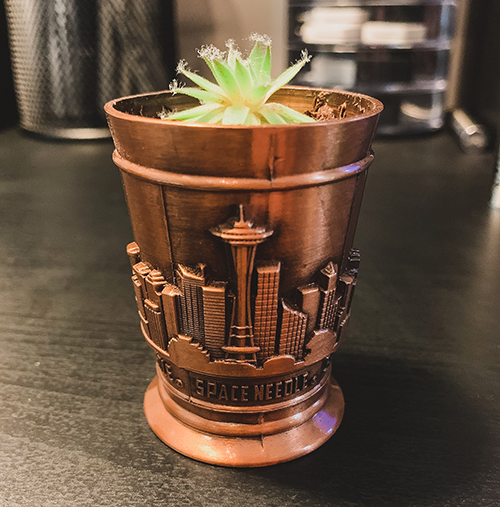 Space Needle Shot Glass Growing a Shot Glass