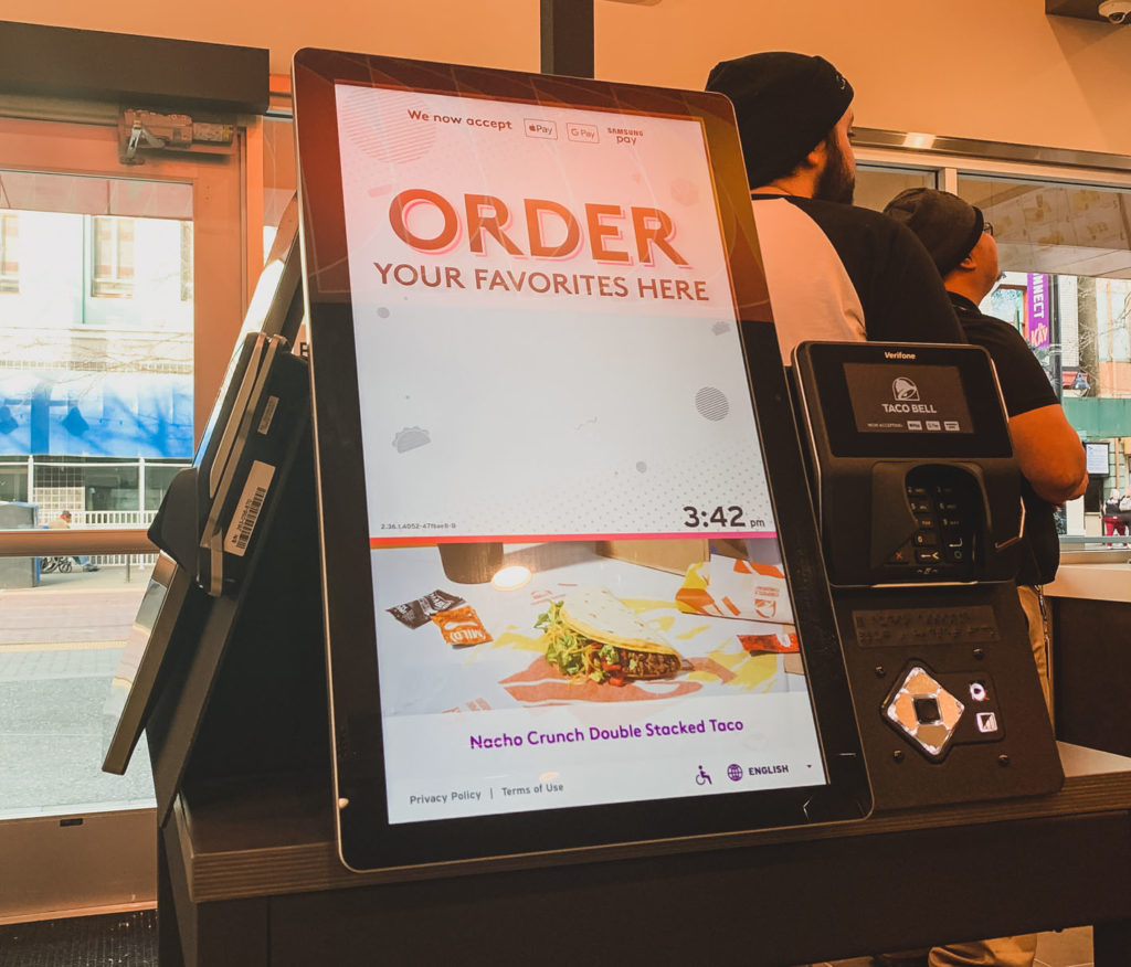 Order Kiosk - Taco Bell Cantina Sacramento